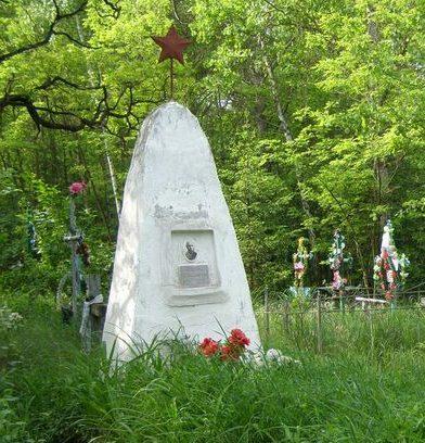с. Рогозки Сновского р-на. Братская могила на кладбище 14 воинов, погибших при освобождении села.