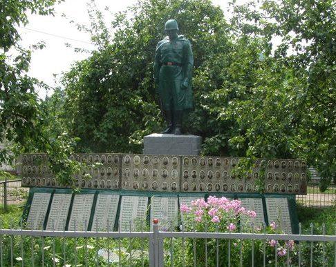 с. Смолин Черниговского р-на. Мемориал, установленный в 1976 году на братской могиле, в которой похоронено 16 воинов, в т.ч. 5 неизвестных, погибших в боях за село и памятный знак погибшим землякам.