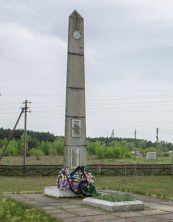 с. Сновянка Черниговского р-на. Могила советского воина, погибшего при освобождении села в сентябре 1943 года и памятный знак 60 воинам-односельчанам, погибшим в годы войны.