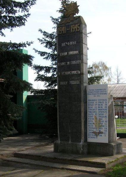 г. Сновск (Щорск)..Памятник 32 погибшим работникам локомотивного депо.