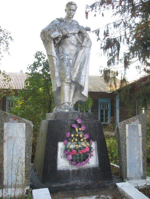 с. Старые Боровичи Сновского р-на. Памятник, установленный в 1957 году на братской могиле воинов, погибших при освобождении села в 1943 году.