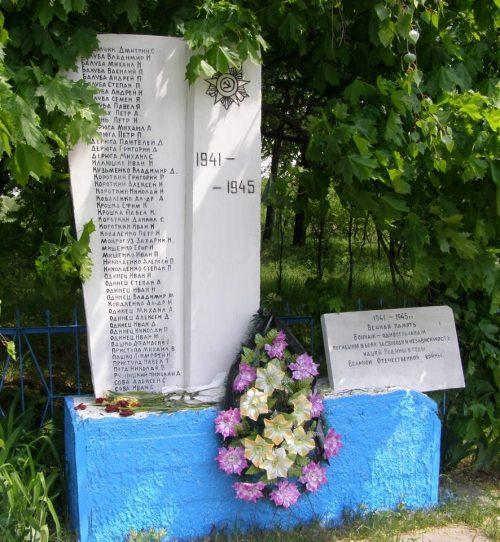 с. Юрьевка Черниговского р-на. Памятный знак односельчанам, погибшим в годы войны.