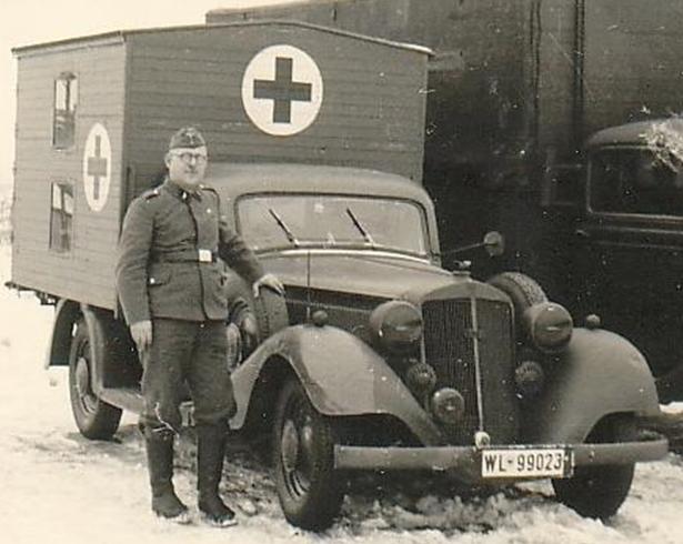 Санитарная машина на базе «Horch -830-BL». 1940 г.