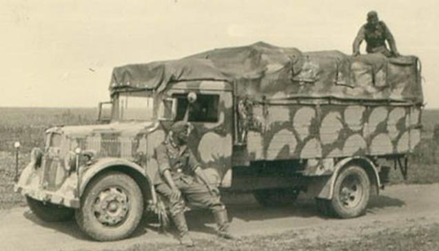 Грузовик «MAN Е-3000» в камуфляже. 1943 г.