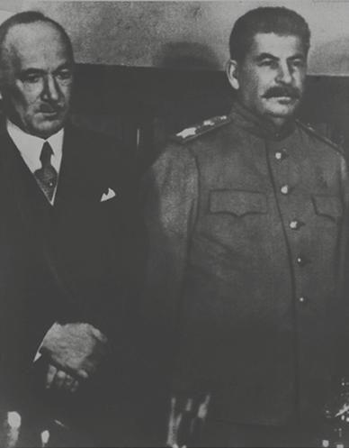 Э. Бенеш и И. В. Сталин.