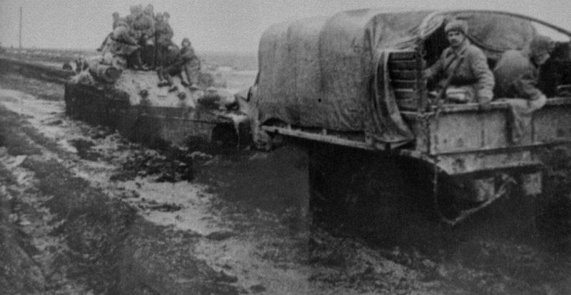 Советские войска на подступах к Проскурову.