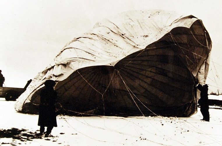 Воздушный шар найден возле Бигелоу, штат Канзас.