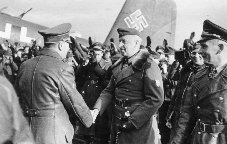 Встреча Гитлера и Манштейна в Запорожье.