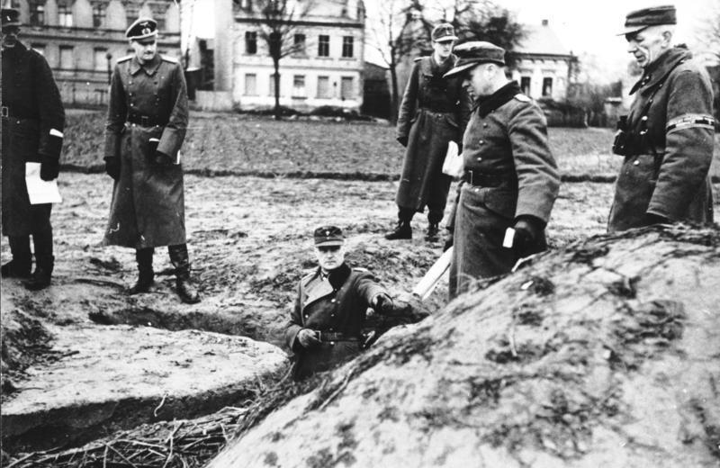 Оборонительные позиции Фольскштурма.