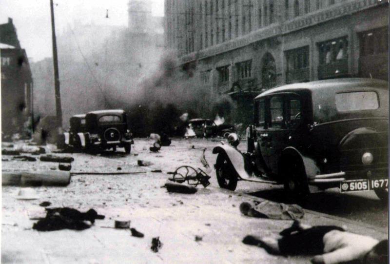 Шанхай после бомбардировки.