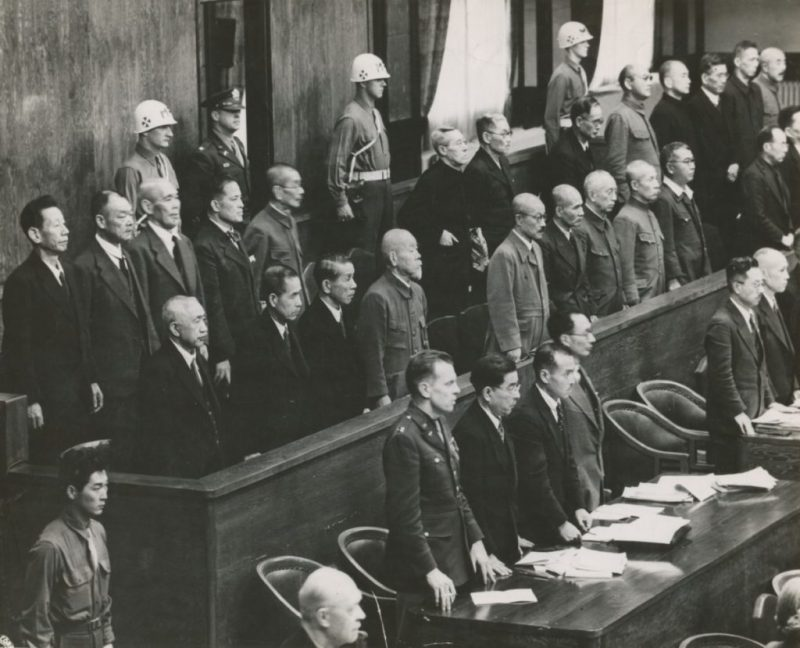 Подсудимые на Токийском процессе.