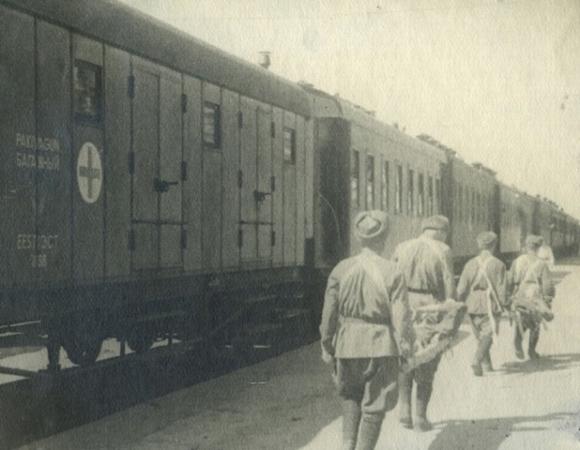 Военно-санитарный поезд.