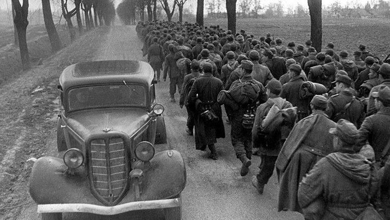 Немецкие военнопленные, захваченные под Бобруйском. Июнь 1944 г.
