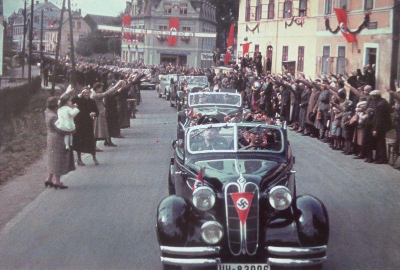 Автомобиль «BMW 326 2 Tür Cabriolet» в Судетах. Октябрь 1938 г.