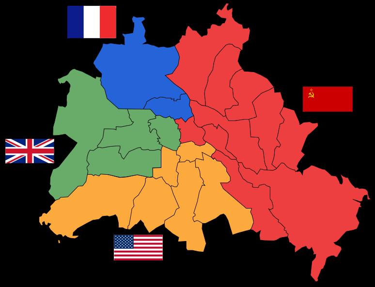 Секторы разделенного Берлина.