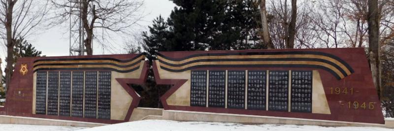 г. Пятигорск. Мемориал «Мы победили» у входа на военное мемориальное кладбище.
