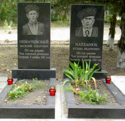 с. Величаевское Левокумского р-на. Могилы членов Величаевского подполья.