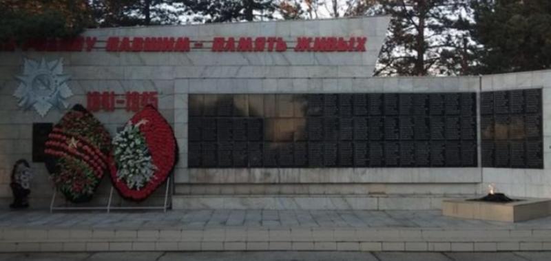 ст-ца. Григорополисская Новоалександровского р-на. Мемориал советским воинам.