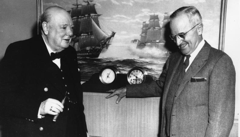 У. Черчилль и Г. Трумэн.