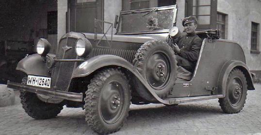 Kübelwagen «Hanomag 4/23 PS». 1938 г.