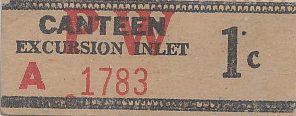 Один цент суррогатной валюты, ходившей в лагерях на Аляске.