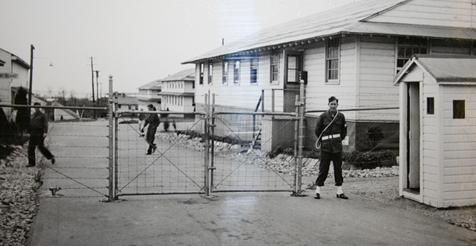 Контрольно-пропускной пункт лагеря Род-Айленд в Наррагансетте.