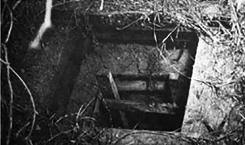 Тоннель для побега в лагере Кэмп Папаго в Аризоне. 1944 г.