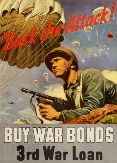 Агитационный плакт для Третьего военного займа 1943 года.
