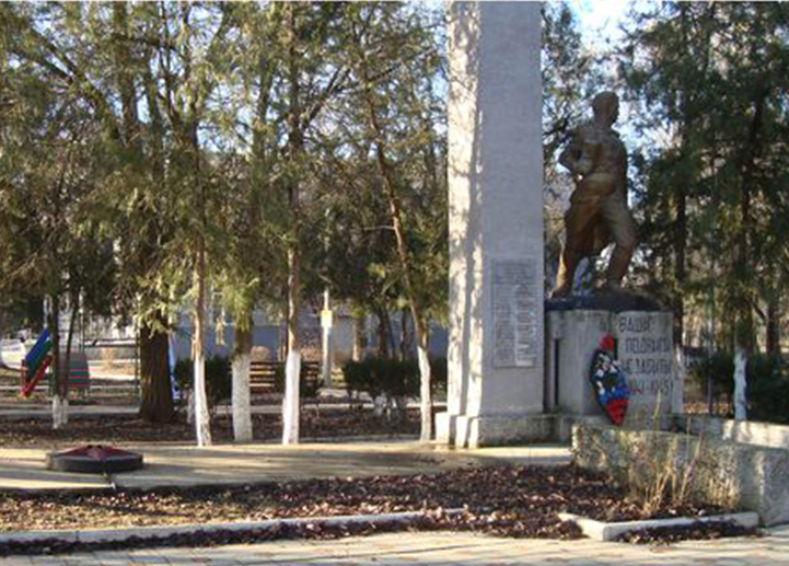 п. Новокумский Левокумского р-на. Мемориал воинам, погибшим в годы войны.