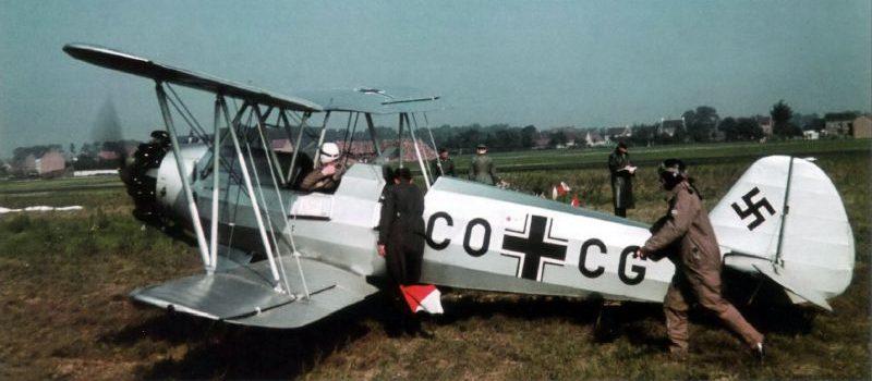 Учебно-тренировочный биплан Фокке-Вульф Fw 44. Август 1940 г.