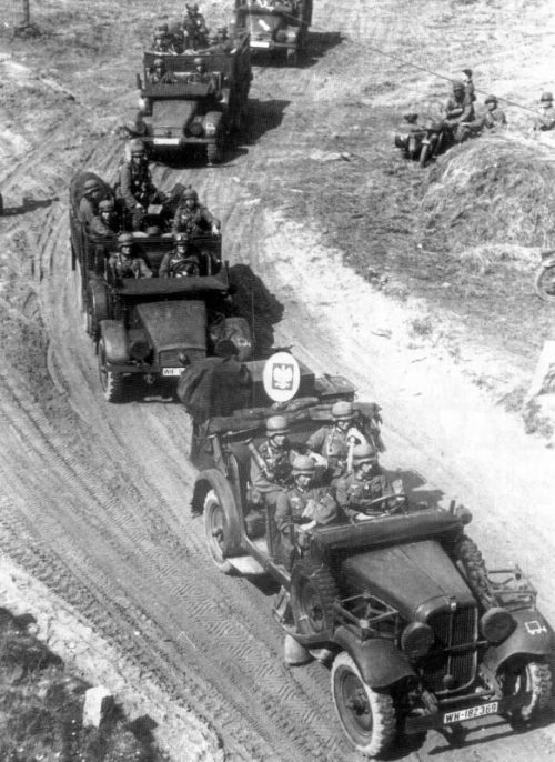 Продвижение немецких войск в Польше. Сентябрь 1939 г.