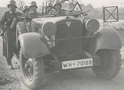 Автомобиль «Adler 12N-3G» в Польше. 1939 г.