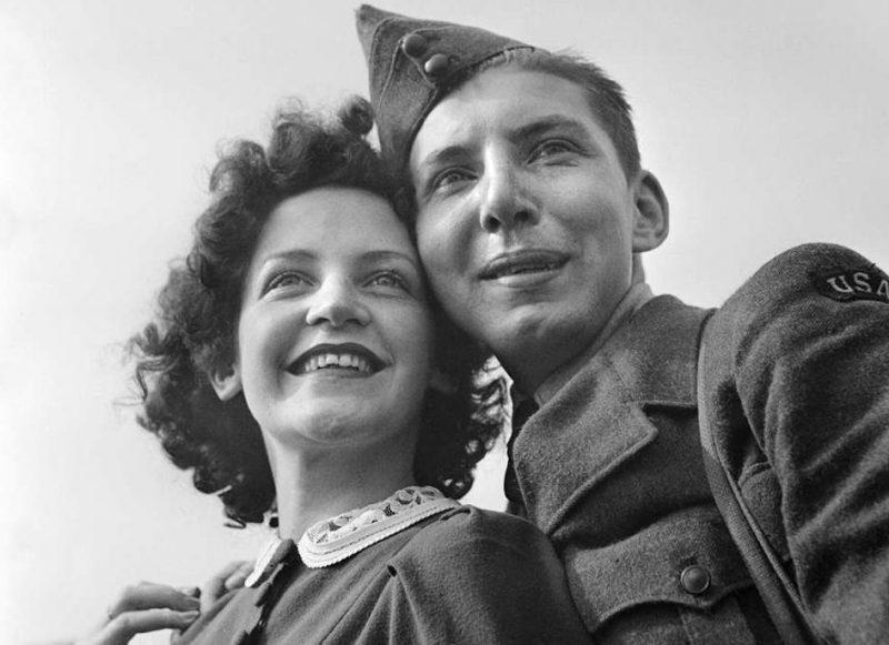 Фото «боевых невест» американских военнослужащих. 1945 г.