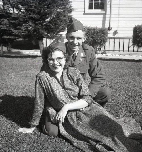 Фото «боевых невест» американских военслужащих. 1945 г.