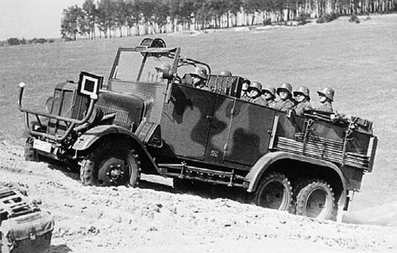 Грузовик «Bussing-NAG G-31» на испытаниях. 1939 г.