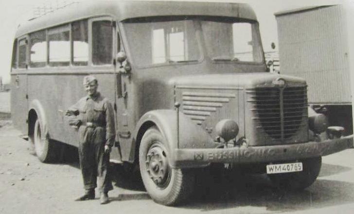 Автобус «Bussing-NAG 500-N» на службе военных. 1939 г.