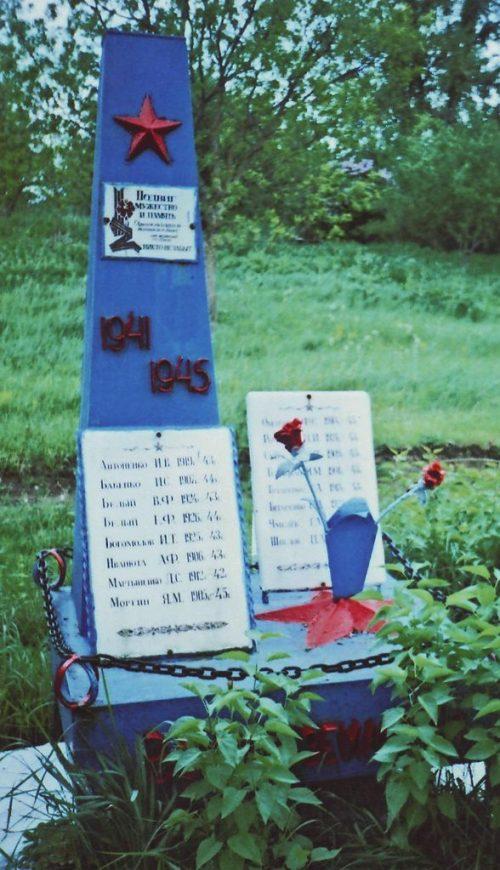 с. Киан-Подгорное Андроповского р-на. Братская могила 16 погибших советских воинов – разведчиков.