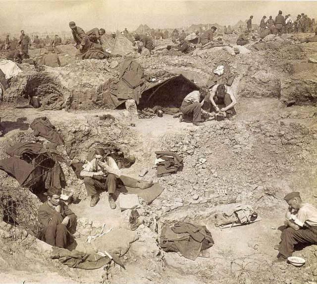 Вид на лагерь немецких военнопленных.