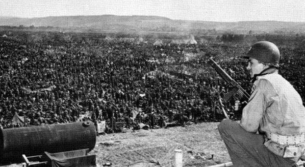 Один из лагерей для немецких военнопленных.