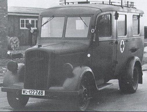 Санитарная машина «Opel Blitz 2.5-32». 1939 г.