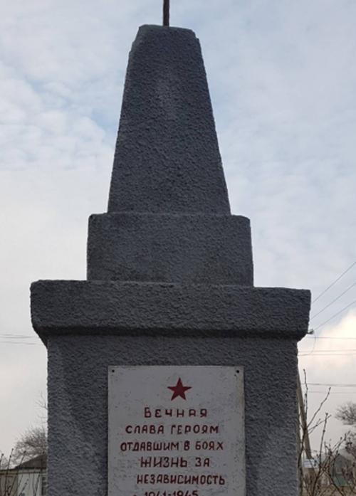 с. Крымгереевское Андроповского р-на. Братская могила советских воинов.