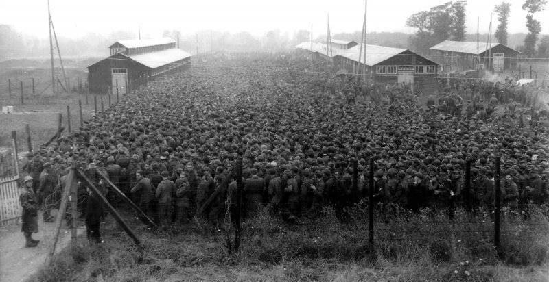 Один из «лагерей» в районе Рейна.