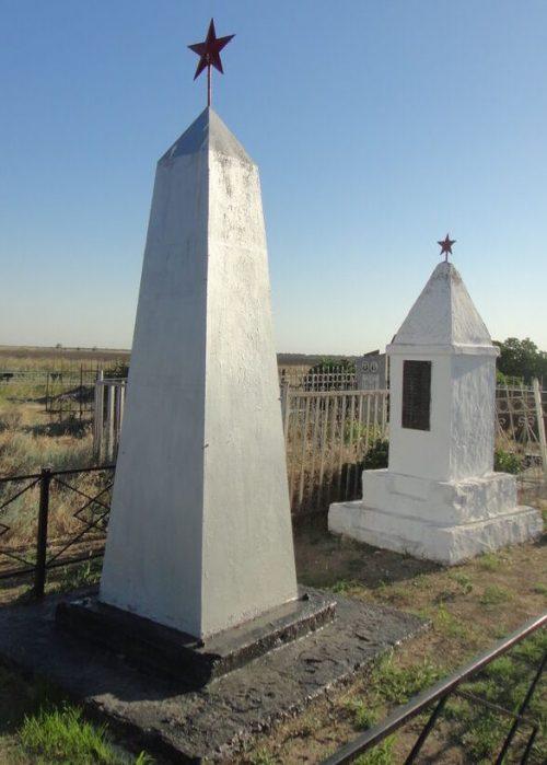 х. Арарат Степновского р-на. Братская могила 57 советских воинов, погибших в 1942-1943 годах.