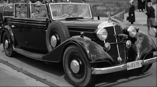 Пульман-кабриолет «Horch 830-BL» для высших армейских чинов. 1940 г.