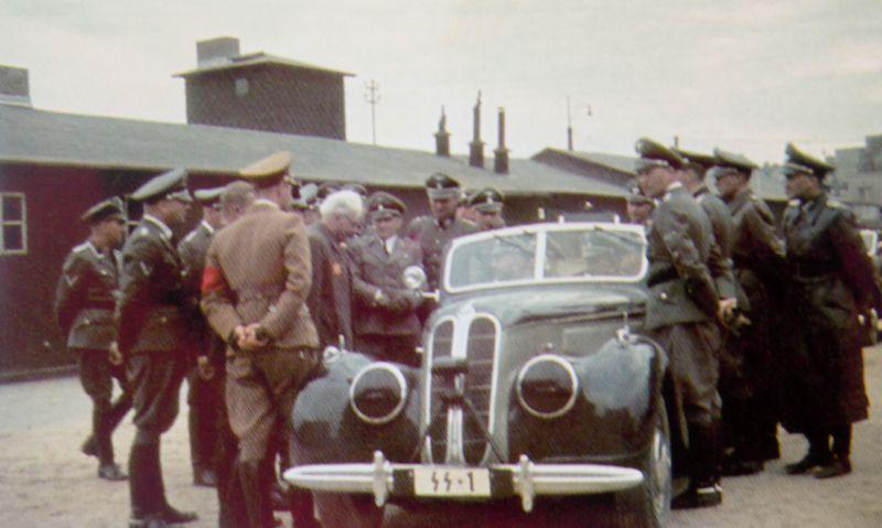 Автомобиль «BMW-335 Cabriolet» с рейхсфюрером СС Г. Гиммлером. Польша, июнь 1941 г.