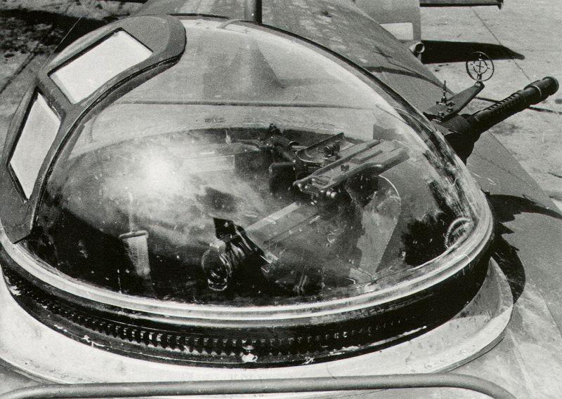 Верхняя башня бомбардировщика Фокке-Вульф Fw.200 «Кондор» с одним пулеметом МG-13. 1941 г.