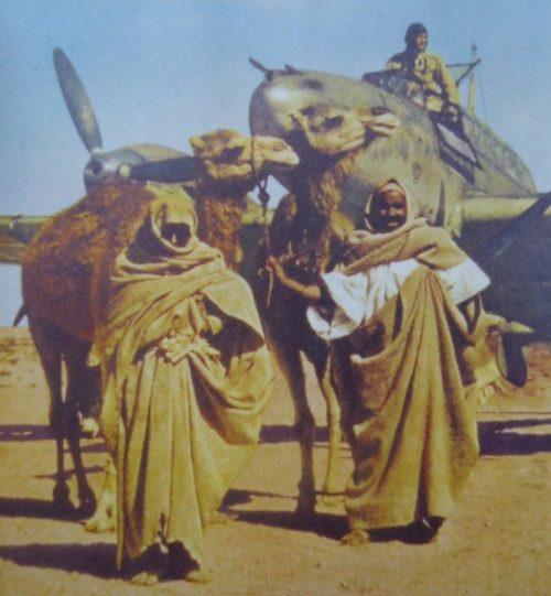 Истребители Мессершмитт Bf.110 на аэродроме в Ливии. 1941 г.