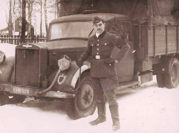 Грузовик «Hansa-LLoyd Bremen» на Восточном фронте. Декабрь 1941 г.
