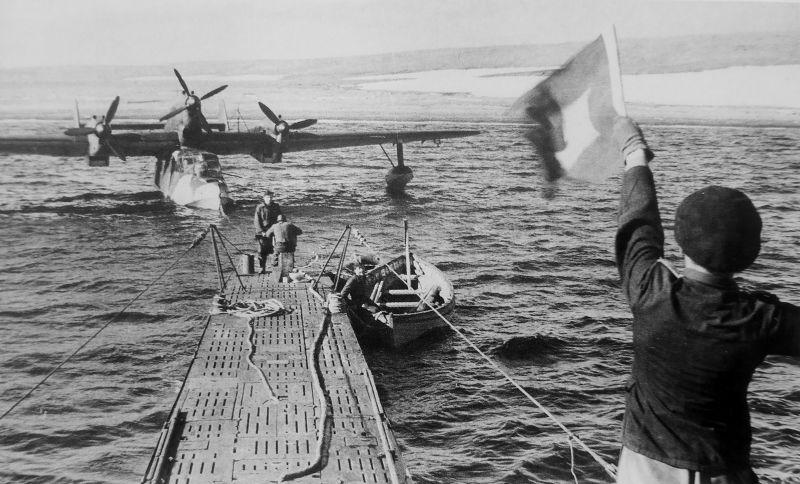 Летающая лодка BV 138 у берегов Новой Земли. Август 1942 г.