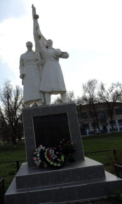 с. Куликовы Копани Туркменского р-на. Памятник воинам-землякам, погибшим в годы войны.